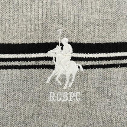 RCB POLO CLUB LADIES TEE DESIGN GREY STRIPE RFTS60493 0F2
