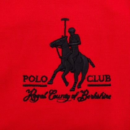 RCB POLO CLUB MEN POLO TEE SOLID-RED NUMBER 3 RMTS10162-50 00H